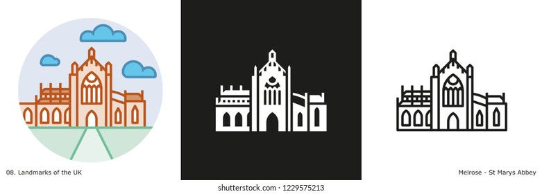 St Marys Abbey Icon - Melrose, Scotland