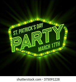 St. Patrick Day poster. Vector illustration EPS10