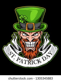 St Patrick Day Scary Logo