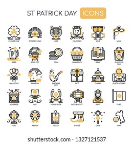 St Patrick Day , Thin Line and Pixel Perfect Icons