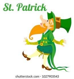 St. patrick design greeting card