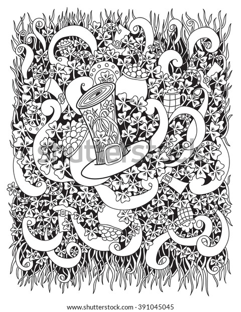St. Patrick Day Top Hat coloring page | Free Printable Coloring Pages | 620x480