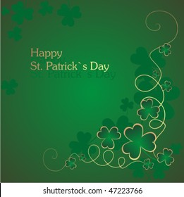 St. Patrick`s  background with clover