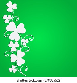 St. Patricks day background with clover. EPS10 vector illustration.