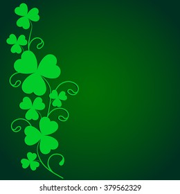 St. Patrick's day background in green colors, pattern. EPS10 vector illustration.