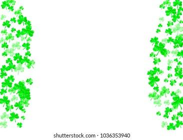 clover background saint patricks day lucky stock vector royalty