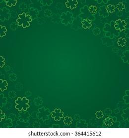 St. Patrick's day background. Vector illustration.