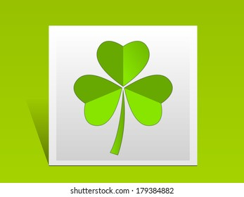 St. Patrick's Day clover with green background.