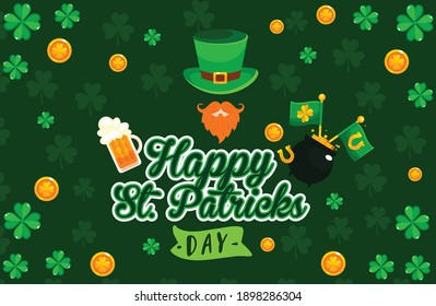 st patrick's day design.happy st. patrick's day creative design green .17 march special day design.st patricks day design.
