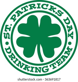St. Patrick's Day drinking team badge