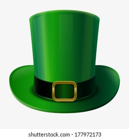 St Patrick's Day element. Green leprechaun hat vector illustration