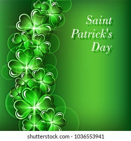 St Patricks Day greeting card background. Vector illustration