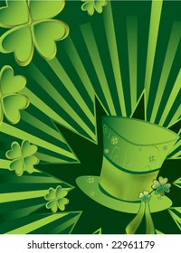 St Patrick's Day hat background - vector