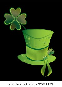 St Patrick's Day hat  - vector