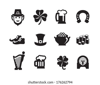 St. Patrick's Day icons.Vector format