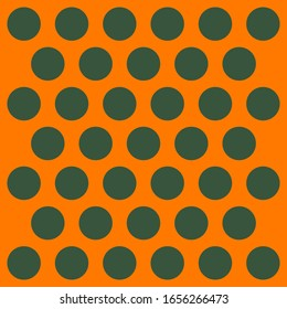 St. Patricks day pattern polka dots. Template background in green and orange polka dots . Fabric texture. Vector illustration