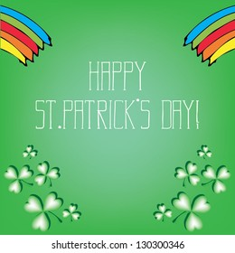 St. Patrick's Day Vector Card