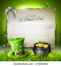 St. Patrick's Day - vector template with copyspace