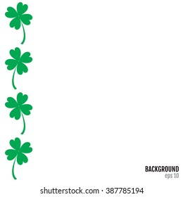 St. Patrick's Day vector vertical background with quatrefoil. St Patrick's DayVector Art, Stock Vector