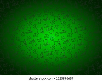 St. Patrick's pattern. Vector image