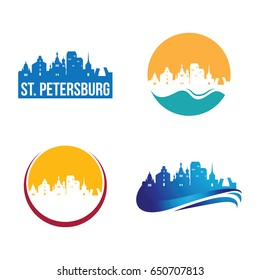 St. Petersburg City Landscape Logo Template