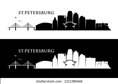 St. Petersburg skyline - Florida United States of America USA - vector illustration