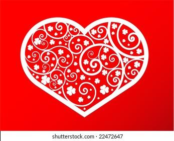 st valentine postcard
