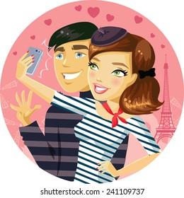 St. Valentine's Day selfie in Paris