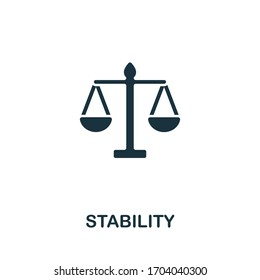 Stability icon from personal productivity collection. Simple line Stability icon for templates, web design and infographics