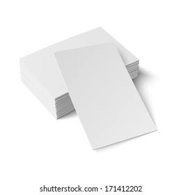 Pile of business cards stock vectors images vector art shutterstock stack of blank business card with one card in front on white background with soft shadows reheart Images