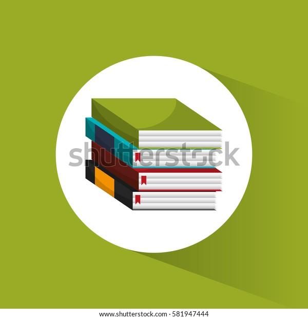 stack book school utensils icon