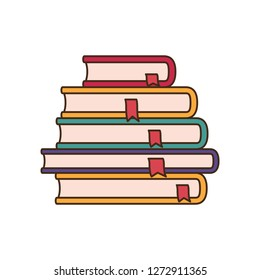 stack of books isolated icon