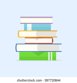 Stack of books vector illustration. Pile of books isolated from background.