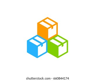 Stack Box Icon Logo Design Element