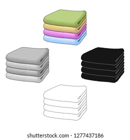 A stack of clean linen.Suhaya cleaning single icon in cartoon style vector symbol stock illustration web.