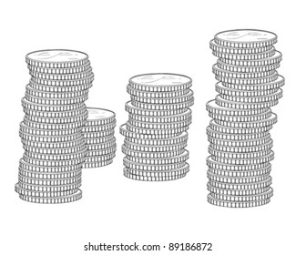 Stack of coin (dollar)