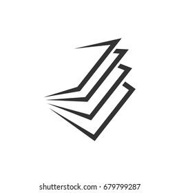 Stack of Paper Logo Template Illustration Design. Vector EPS 10.