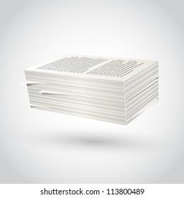 Stack of paper sign, template design element, Vector illustration