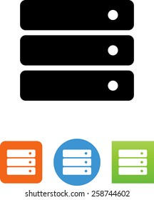 Stack of servers icon