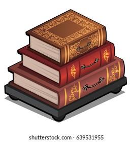 Stack of Old Books Stock Vectors, Images & Vector Art | Shutterstock