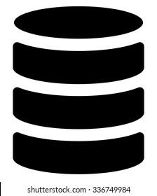 Stacked database, db symbol