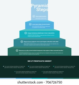 Stacked Pyramid Chart Infographic Colorful Information Great for Presentations