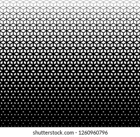 Stacking cubes pattern in halftone