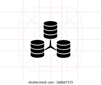 Stacks of Discs as Database Concept Icon