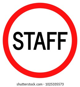 staff sign vector