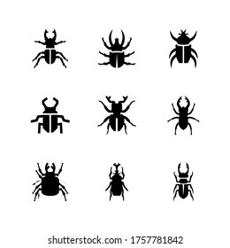 stag-beetle  icon or logo isolated sign symbol vector illustration - Collection of high quality black style vector icons