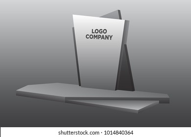 stage backdrop simple style  vector editable