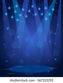 stage disco background