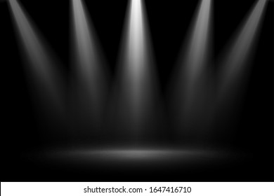stage focus spotlights on black background
