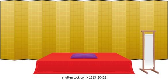 "Stage ""KOUZA"" of traditional Japanese performance ""RAKUGO"""